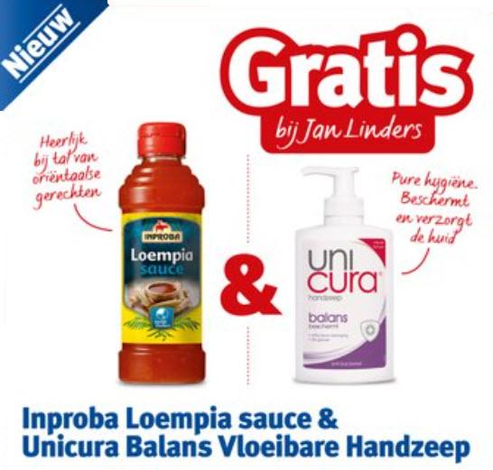 Gratis Inproba Loempia Sauce & Unicura balans vloeibare handzeep @ Jan Linders