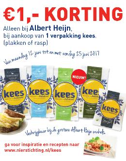 € 1,- korting + AH steunt Nierstichting bij aankoop KeesKaas @ Albert Heijn