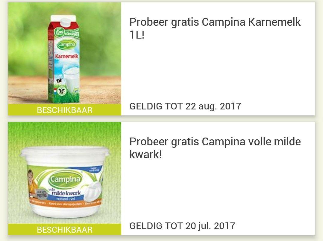 Probeer gratis Campina Kwark en Karnemelk @ Eurosparen