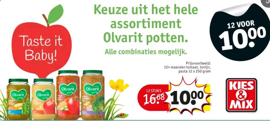 12 potten Olvarit voor €10,-