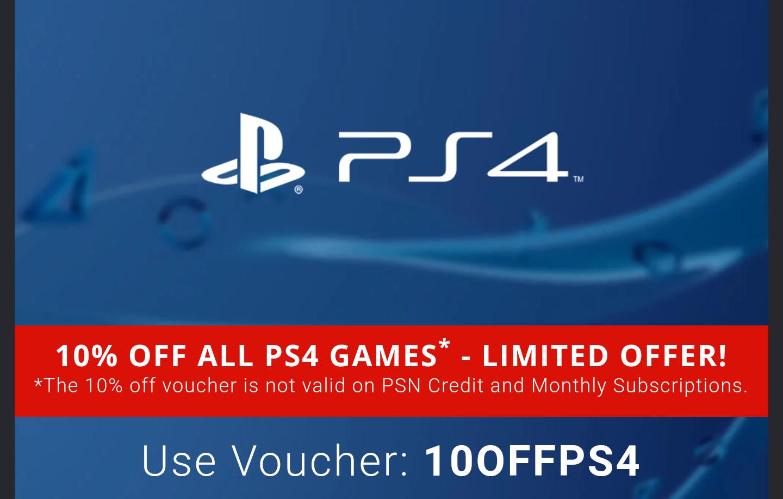 10% korting op PlayStation 4 games @ greenmangaming