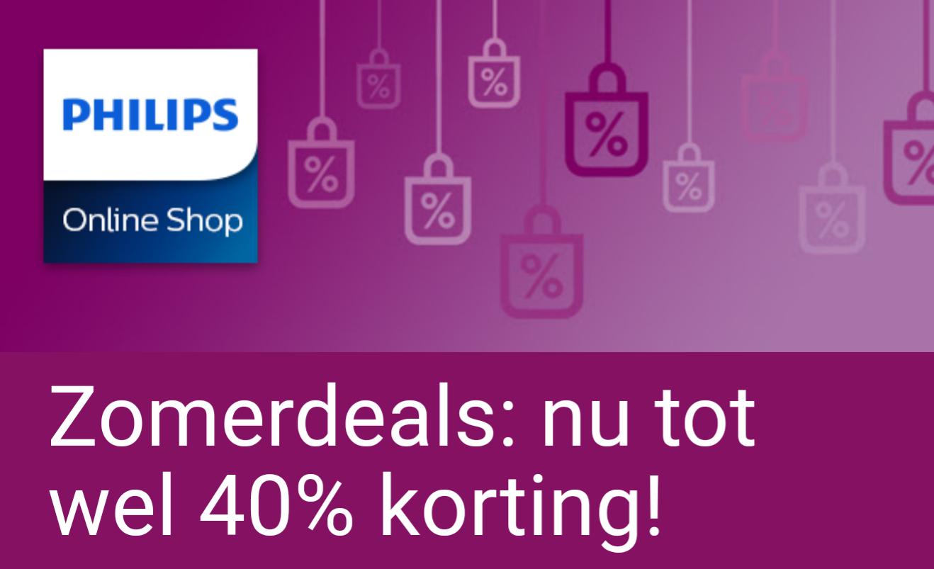 40% korting op diverse producten @ Philips Store