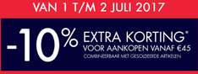 Sale: 10% extra korting (va €45) @ Kiabi