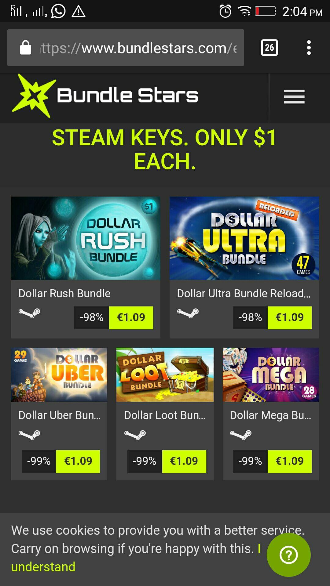 157 steam keys for $5