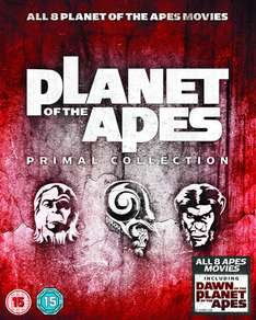 Planet Of The Apes: Primal Collection 1-8 Box Set Blu-ray @ Zavvi.nl