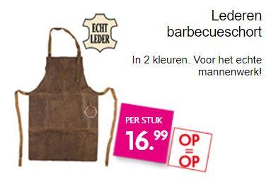 Leren bbq schort (2 kleuren) €16,99 @ Dekamarkt