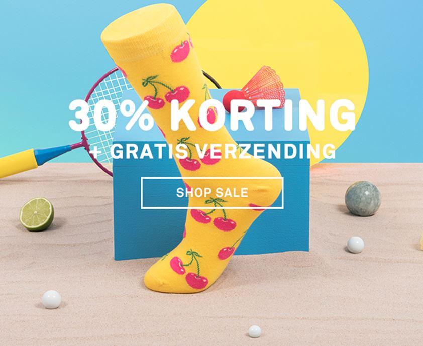 SALE: 30% korting + gratis verzending @ Happy Socks