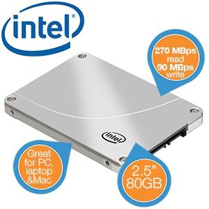 Intel 320 SSD 80GB voor €50,90
