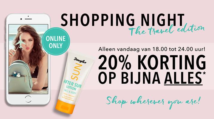Shopping Night van 18:00 tot 24:00 met 20% korting op bijna alles @ Douglas