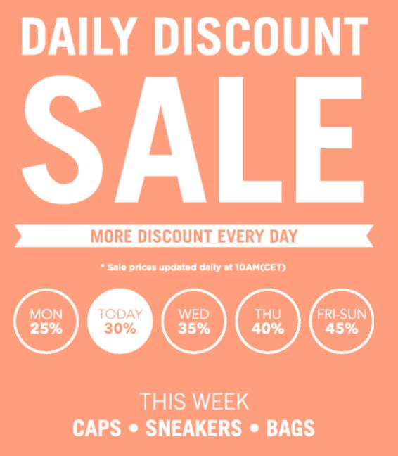 Daily Discount Sale bij Freshcotton