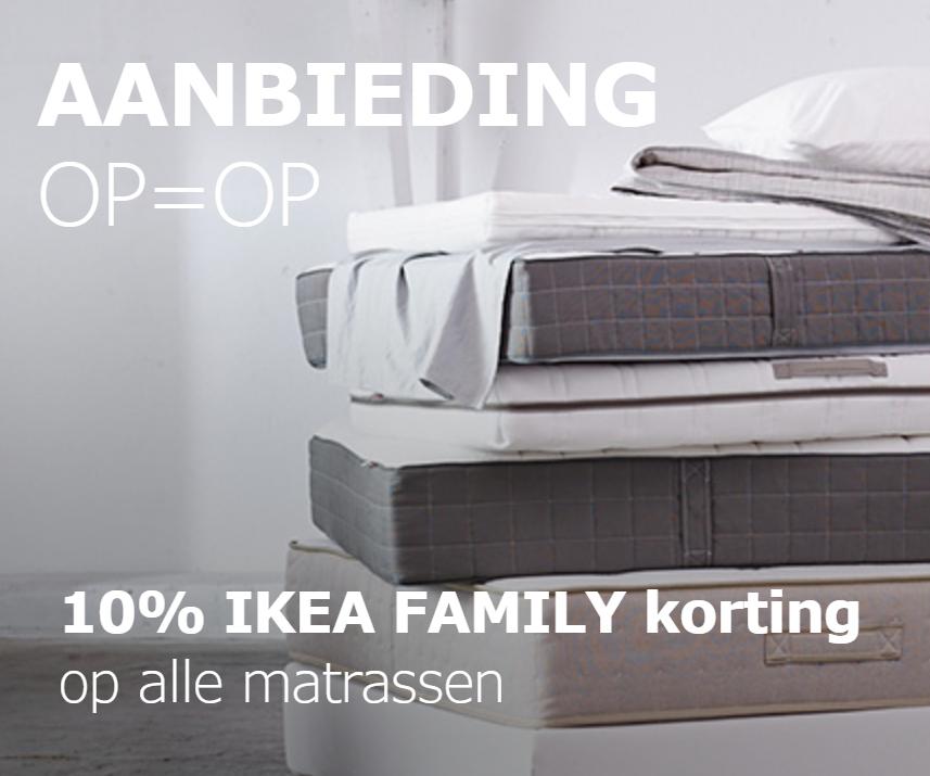 10% korting op alle matrassen @ IKEA
