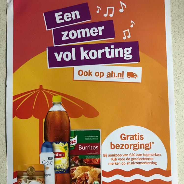 Albert Heijn zomerkorting week 2 o.a gratis bezorging @ah.nl