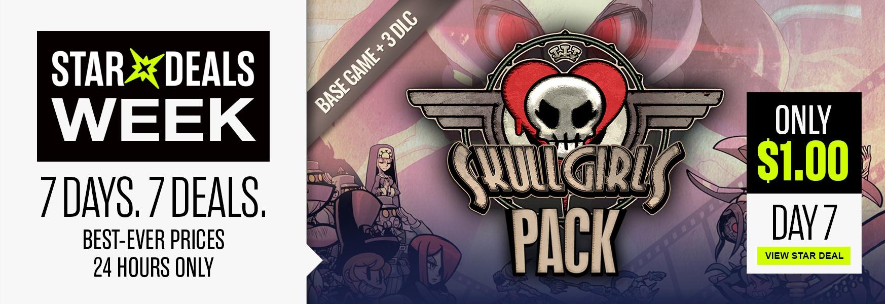 Skullgirls base game + Big Band DLC + Squigly DLC + Color Palette Bundle DLC (Steam) - €0,90 @ Bundle Stars