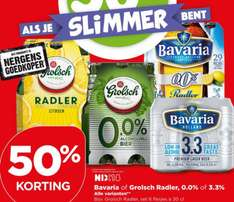 50% korting op Bavaria of Grolsch Radler 3,3% en/of 0,0% @ Plus