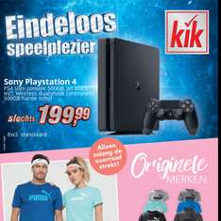 Sony PlayStation 4 nu voor 199,99 bij Kik