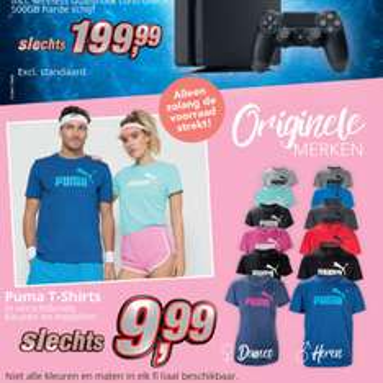 Puma T-shirts voor 9,99 bij Kik