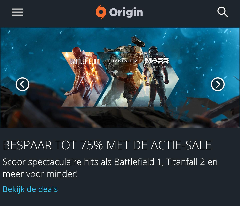 Tot 75% korting op diverse PC games (€4,99 - Mirror's Edge™ Catalyst) @ Origin