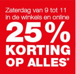 25% korting op alles* zaterdag 22 juli, online vrijdag vanaf 19 uur @ Praxis