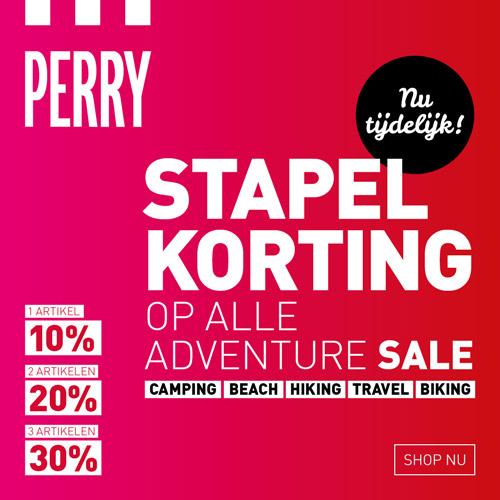 Tot 30% extra korting op sale + met code gratis verzending @ Perry Sport