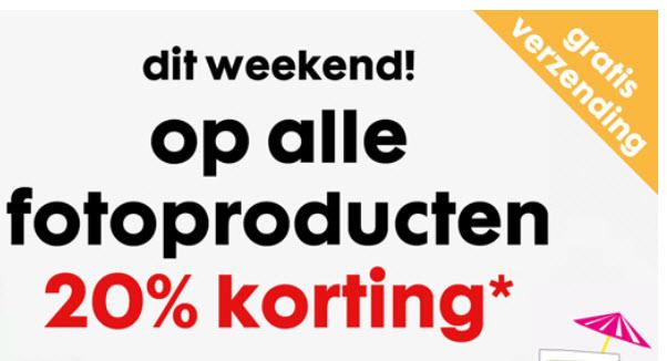ALLEEN dit weekend 20% korting op alle fotoproducten @ Hema