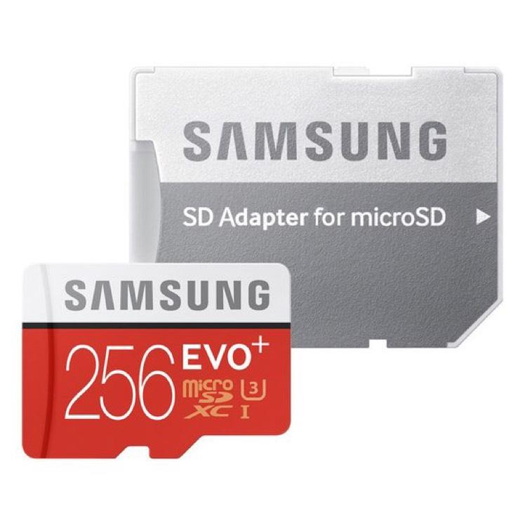 Samsung evo+ 256gb (micro) SD voor €99 @ bol.com