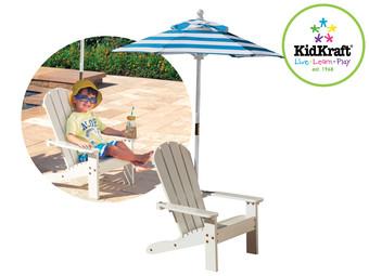 KidKraft Adirondackstoel met Parasol voor €58,90 @ Ibood