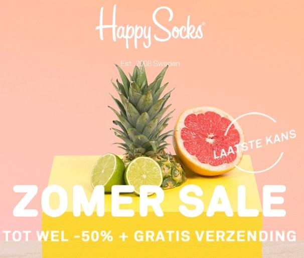 SALE tot -50% + gratis verzending @ Happy Socks