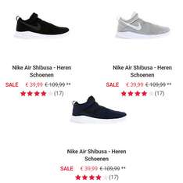 Nike Air Shibusa sneakers €70 korting - nu €39,99 @ Foot Locker