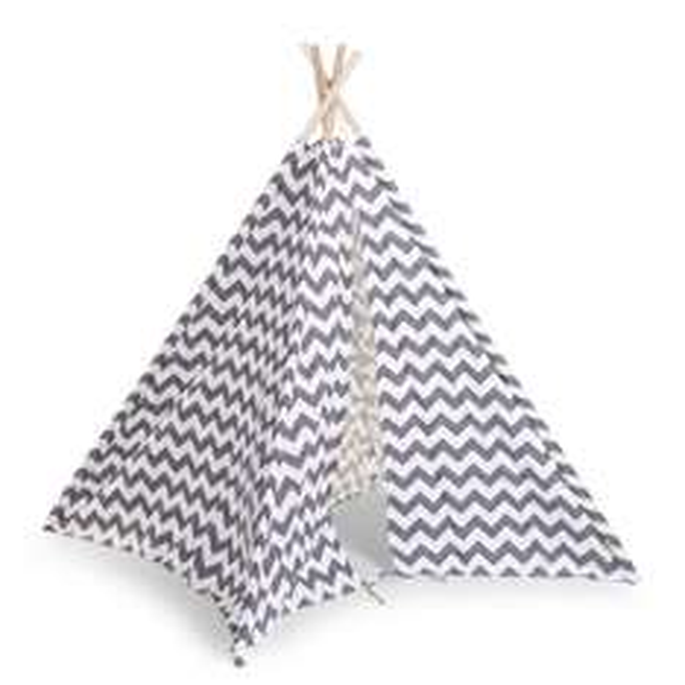 Childhome Tipi Tent Canvas grijs/wit 135x143 cm voor €51,68 @ VtWonen