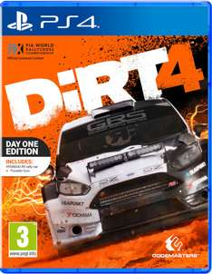 Dirt 4 Day One Edition (PS4/Xbox One) voor €36,22 @ Zavvi
