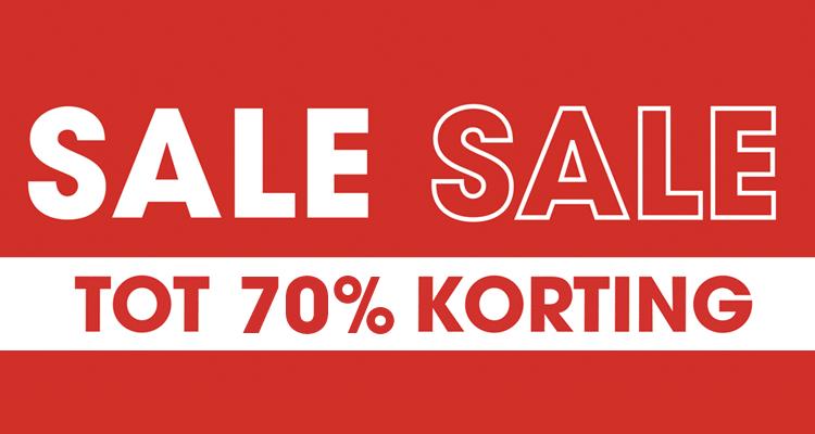 SALE TOT WEL 70% + 10% extra met code @ Ziengs