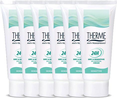 6x60 ml Therme Deodorant Deocreme Anti-transpirant Sensitive voor €21,60 @ Drogisterij