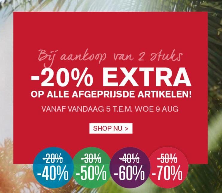 Actie: 25% / 50% extra korting op de sale @ ZEB