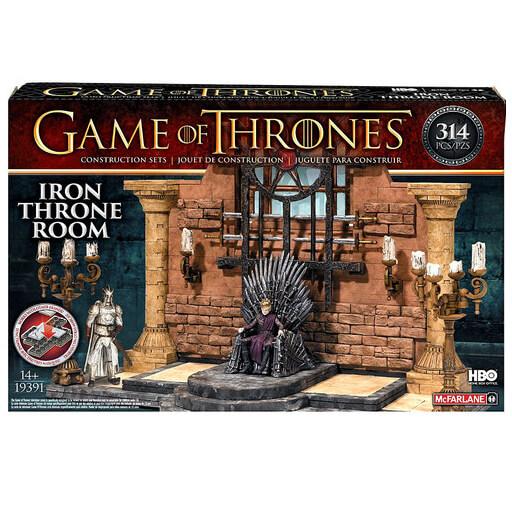 Game of Thrones t-shirt + Throne Room Construction Set voor €11,49 (+€1,99) @ Zavvi