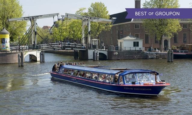 Rondvaart Door De Amsterdamse Grachten Met Blue Boat Company @ Groupon