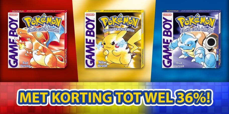 Pokémon rood, geel of bauw (3DS) voor €6,39 @ Nintendo eShop