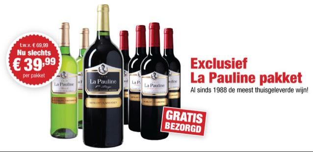 Exclusief La Pauline Pakket voor €19,99 Na Code @ WijnBeurs