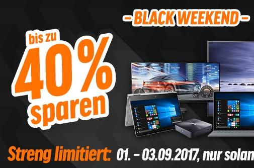Black Weekend aanbiedingen tot 40% korting op computer/audio/video/etc @notebookbiller.de