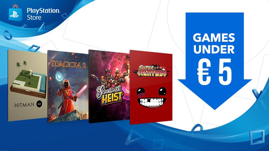 Games onder de €5, Ubisoft Promotion en Deal of the week @ PSN