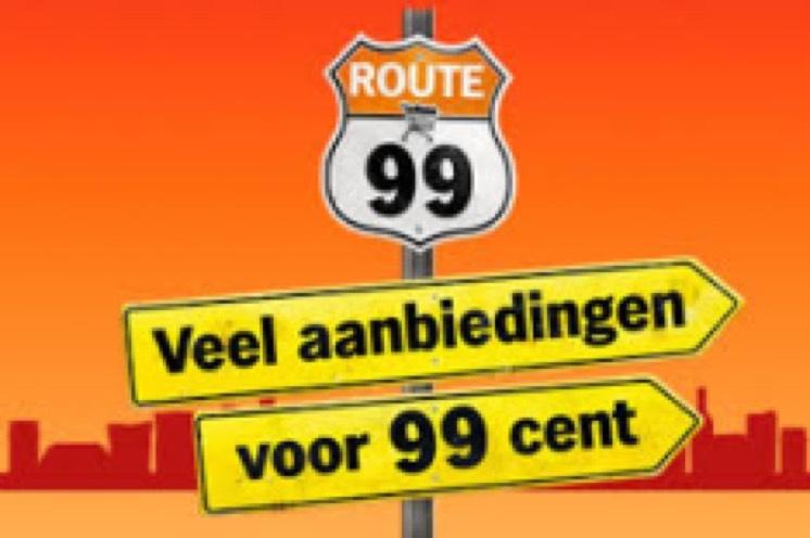 Route 99 met veel aanbiedingen voor 99 cent @ AH (vanaf maandag)