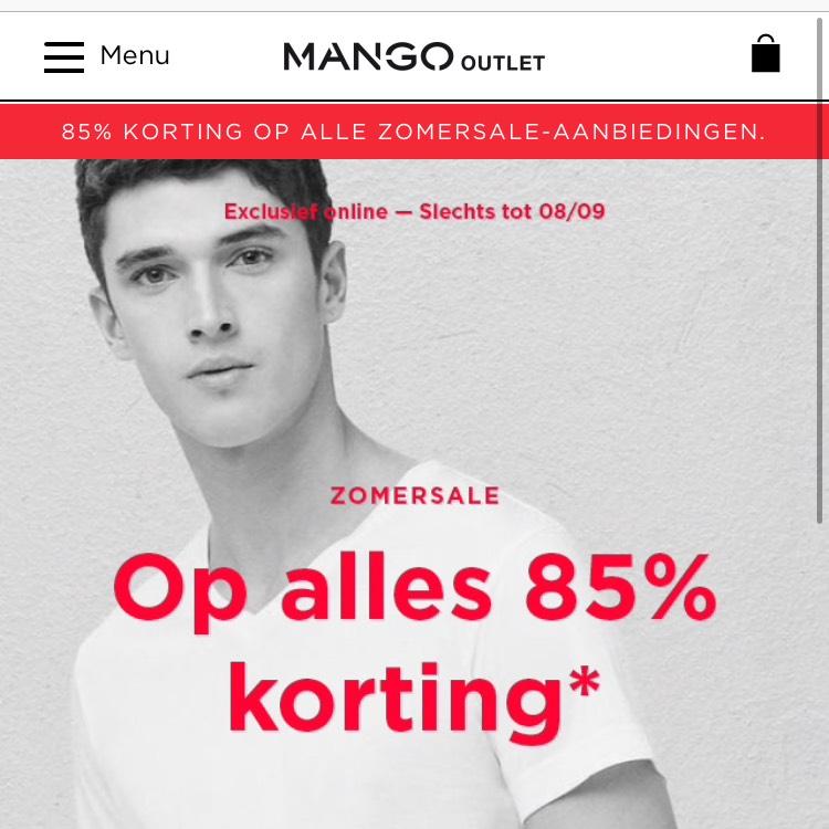 Mango Outlet 85% korting