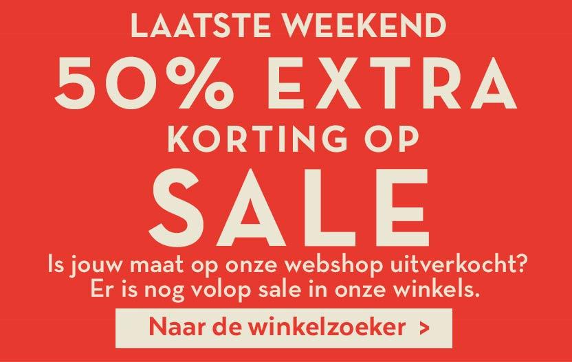 Actie: 50% EXTRA korting op alle sale @ Miss Etam