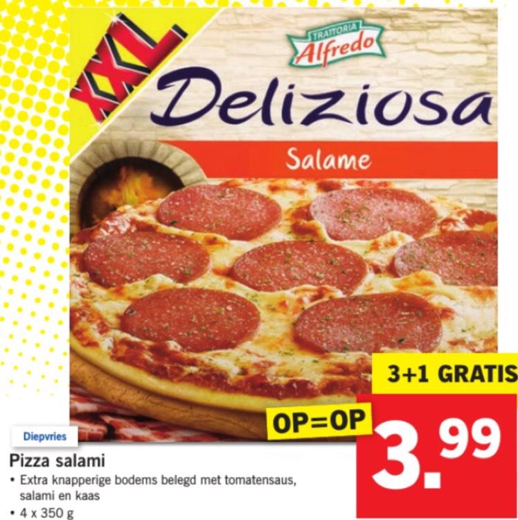 Deliziosa pizza's 4 voor €3,99 @ Lidl