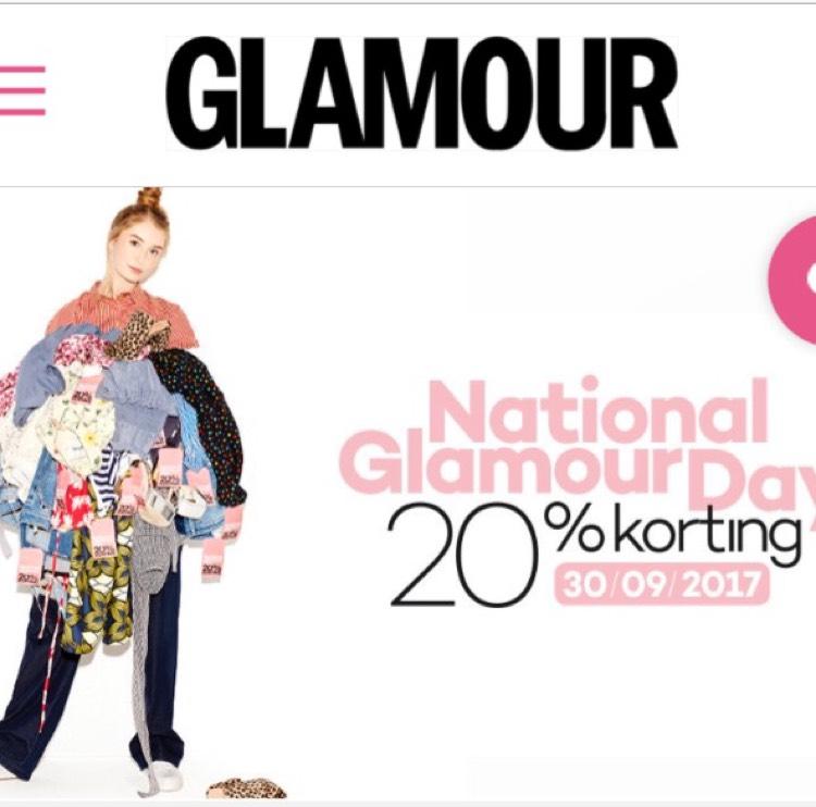 30/9 National Glamourday, 20% in store, maar ook online