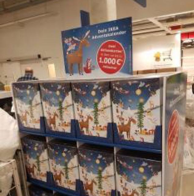 IKEA Adventskalender Incl. 2 Tegoedkaarten van minimaal €10 voor €12,99 @ IKEA DE