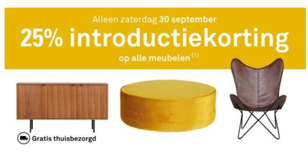 Za 30-09: 25% korting op alle meubelen + gratis thuisbezorgd @ Karwei