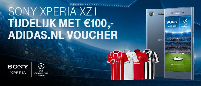 Adidas.nl voucher t.w.v. €100,- bij een Xperia XZ1 @ Sony