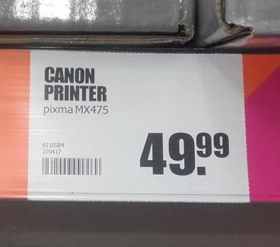 Canon Pixma MX475 (All in one WIFI printer) voor €49,95 @ Big Bazar