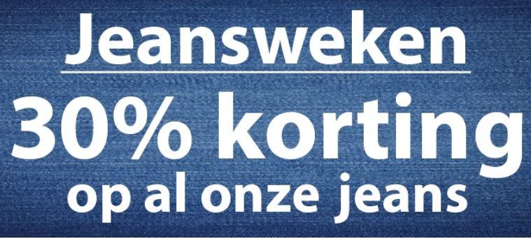 Actie: 30% korting op alle jeans @ terStal