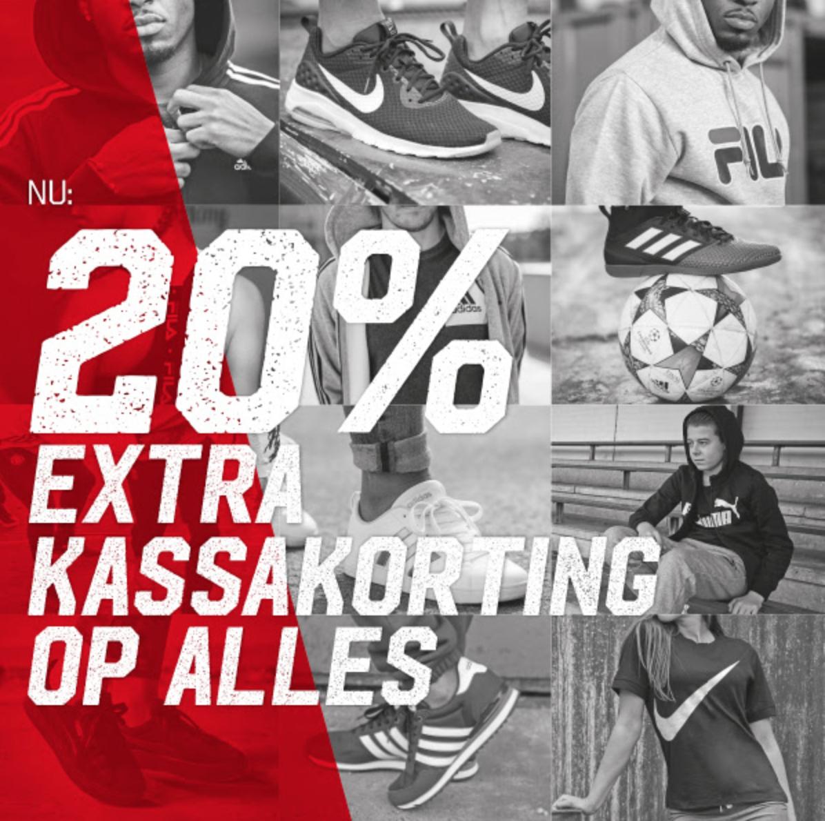 20% kassakorting op alles @ Aktiesport